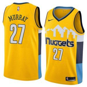 Denver Nuggets Jamal Murray Yellow Jersey
